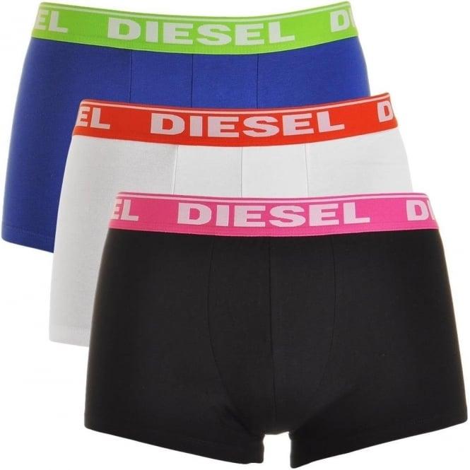 DIESEL Fresh & Bright 3-Pack Boxer Trunk UMBX-Shawn, Navy / White / Black