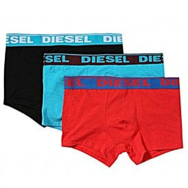 Fresh & Bright 3-Pack Boxer Trunk UMBX-Shawn, Black / Red / Blue