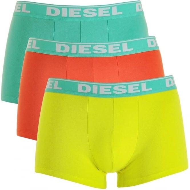 DIESEL Fresh & Bright 3-Pack Boxer Trunk UMBX-Shawn, Green / Orange / Yellow