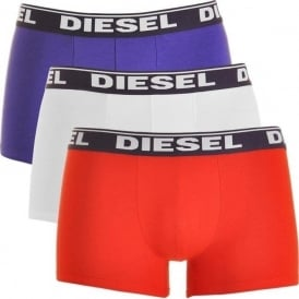 Fresh & Bright 3-Pack Boxer Trunk UMBX-Shawn, White / Red / Purple