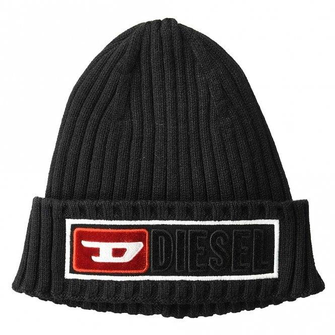 DIESEL K-CODER-B CAP Beanie Hat, Black