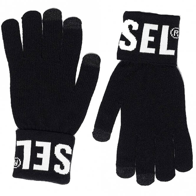 DIESEL K-SCREEX-B Gloves, Black