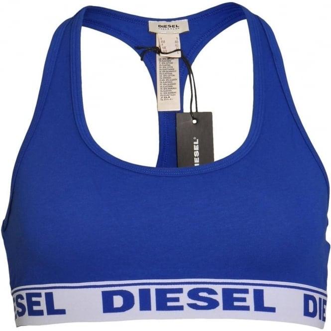DIESEL MILEY Cotton Bralette, Blue