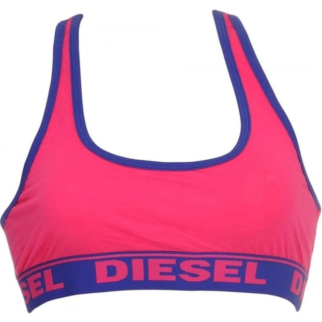 DIESEL MILEY Cotton Bralette, Pink