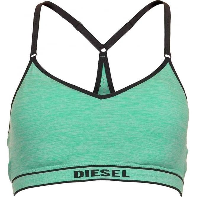 DIESEL POKA-S Stretch Jersey Bralette, Green