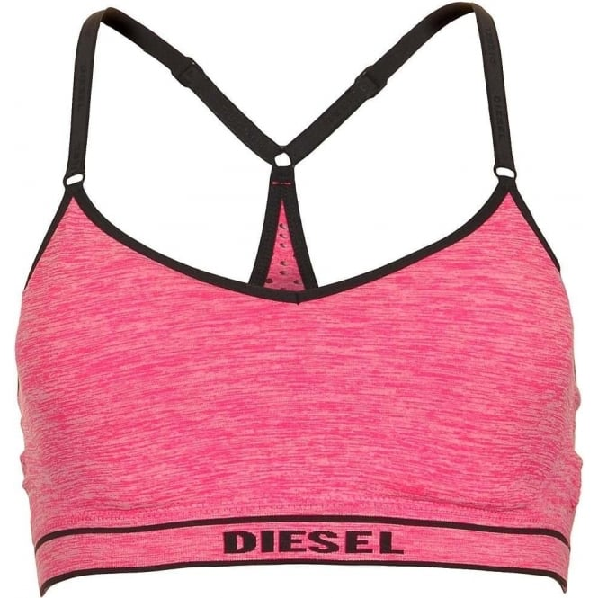 DIESEL POKA-S Stretch Jersey Bralette, Pink