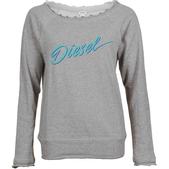 DIESEL UFLT-MILKY Sweatshirt, Grey