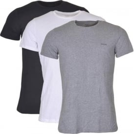UMTEE Jake 3-Pack Crew Neck T-Shirt, Black/Grey/White
