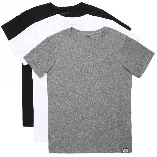 DIESEL UMTEE Michael 3-Pack V-Neck T-Shirt, Multicoloured