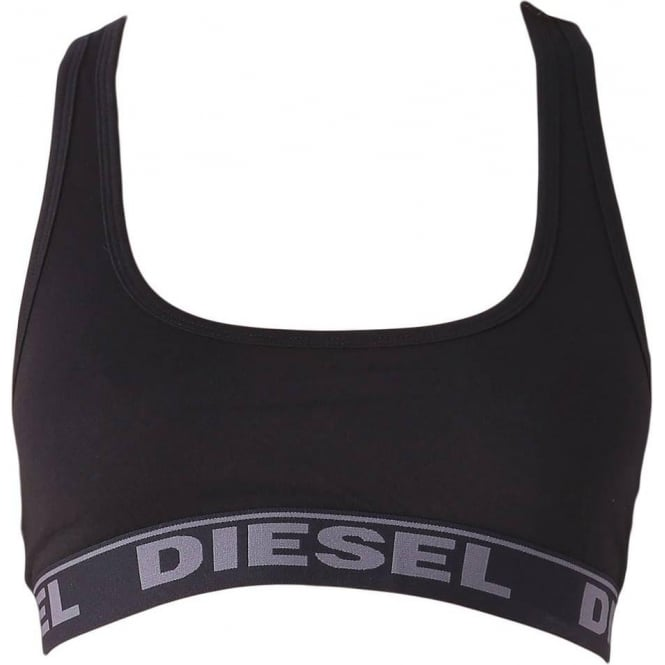 DIESEL Women MILEY Cotton Bralette, Black