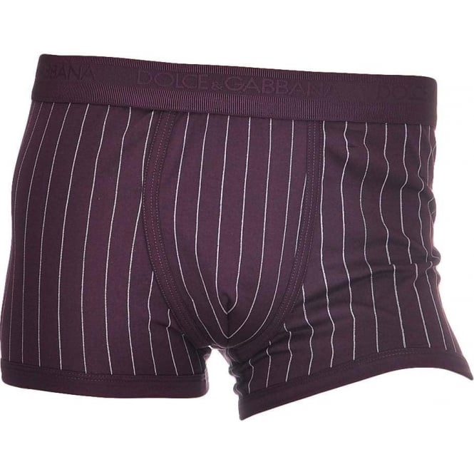 Dolce & Gabbana Cotton Regular Boxer, Burgundy
