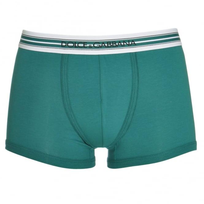 Dolce & Gabbana FUEB0 Stretch Cotton Regular Boxer, Green