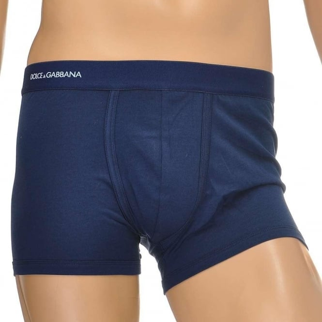Dolce & Gabbana Pure Cotton Regular Boxer, Dark Blue