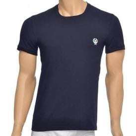 Sport Crest Crew Neck Stretch Cotton T-Shirt, Navy