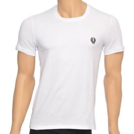 Sport Crest Crew Neck Stretch Cotton T-Shirt, White