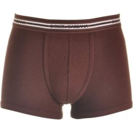 Stretch Ribbed Cotton Regular Boxer, Bordeaux