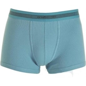Stretch Ribbed Cotton Regular Boxer, Dark Light Blue