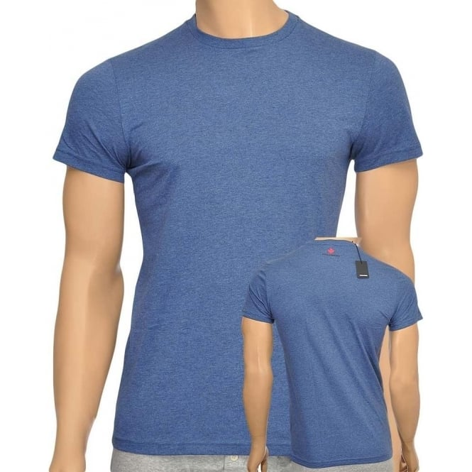 DSQUARED2 Cotton Crew Neck Short Sleeve T-shirt, Blue