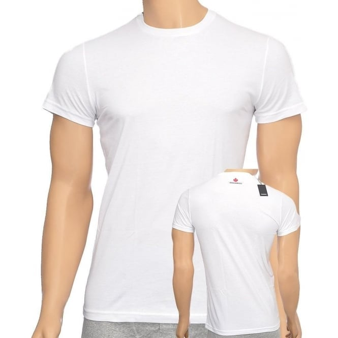 DSQUARED2 Cotton Crew Neck Short Sleeve T-shirt, White