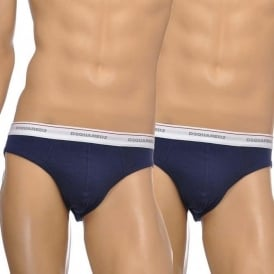 Cotton Stretch 2-Pack Low Rise Brief, Navy
