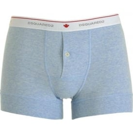 Cotton Stretch Button Front Boxer, Blue