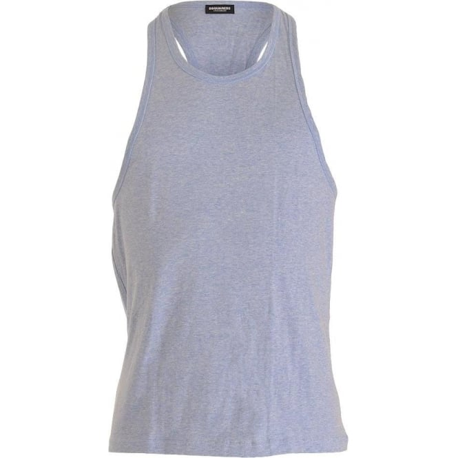 DSQUARED2 Cotton Stretch Tank Top, Blue