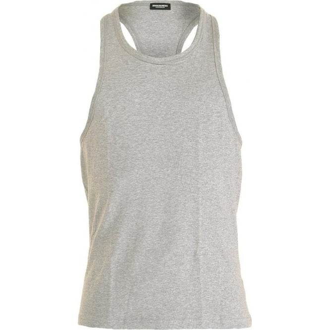DSQUARED2 Cotton Stretch Tank Top, Grey