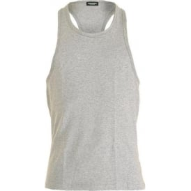 Cotton Stretch Tank Top, Grey