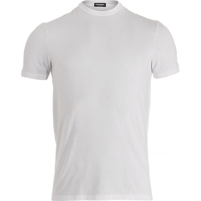 DSQUARED2 Modal Stretch Crew Neck T-shirt, White