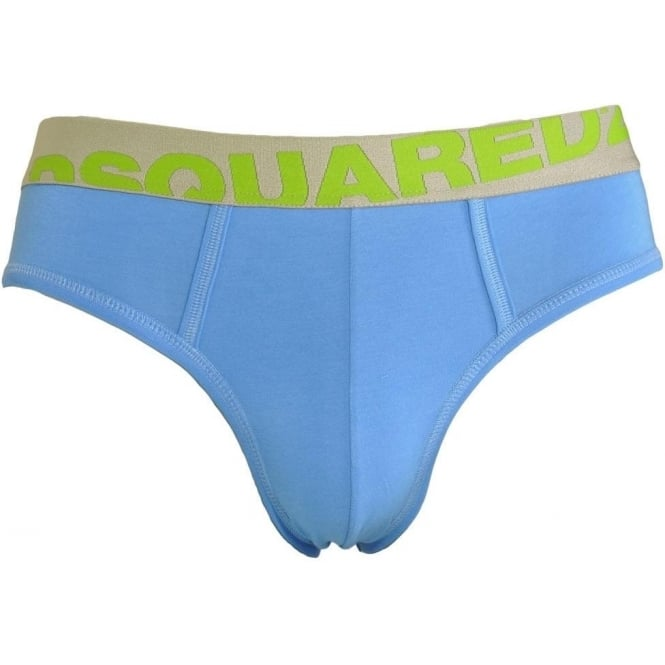 DSQUARED2 Modal Stretch Logo Brief, Blue