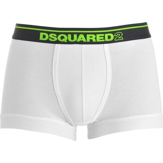DSQUARED2 Modal Stretch Logo Low Rise Trunk, White / Green