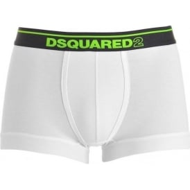 Modal Stretch Logo Low Rise Trunk, White / Green