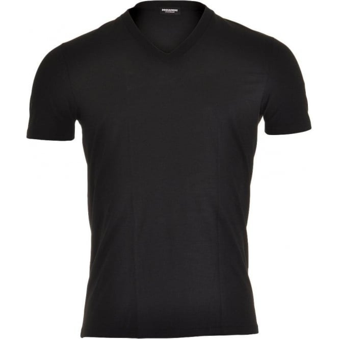 DSQUARED2 Modal Stretch V-Neck T-shirt, Black