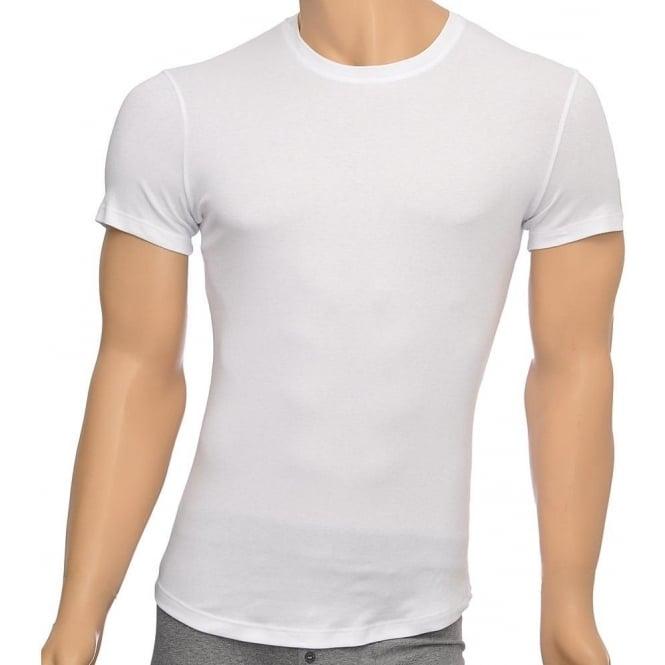 DSQUARED2 Rib Cotton Stretch Crew Neck T-shirt, White