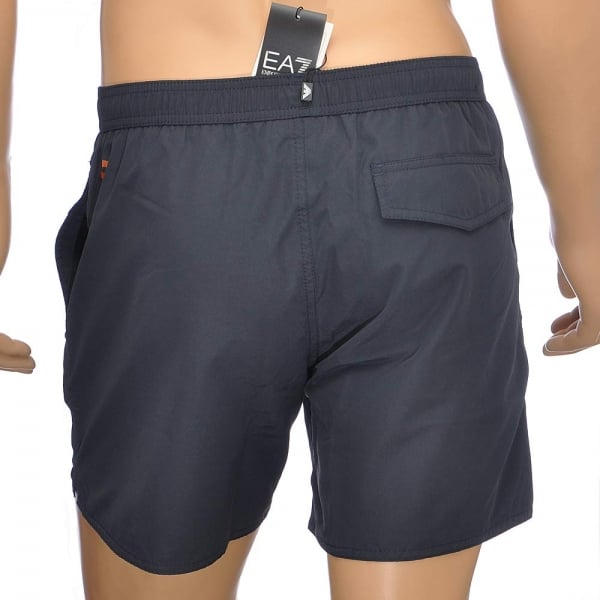1f2a93b445 EA7 Emporio Armani Mens Sea World Swim Shorts Men's Clothing Navy Blue
