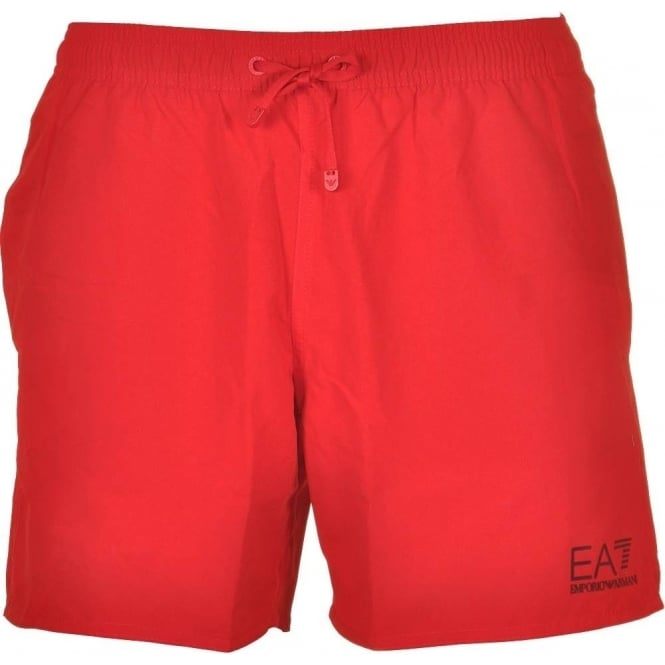 cfb373bdbb4dd EA7 Emporio Armani Sea World Core Swim Shorts, Red