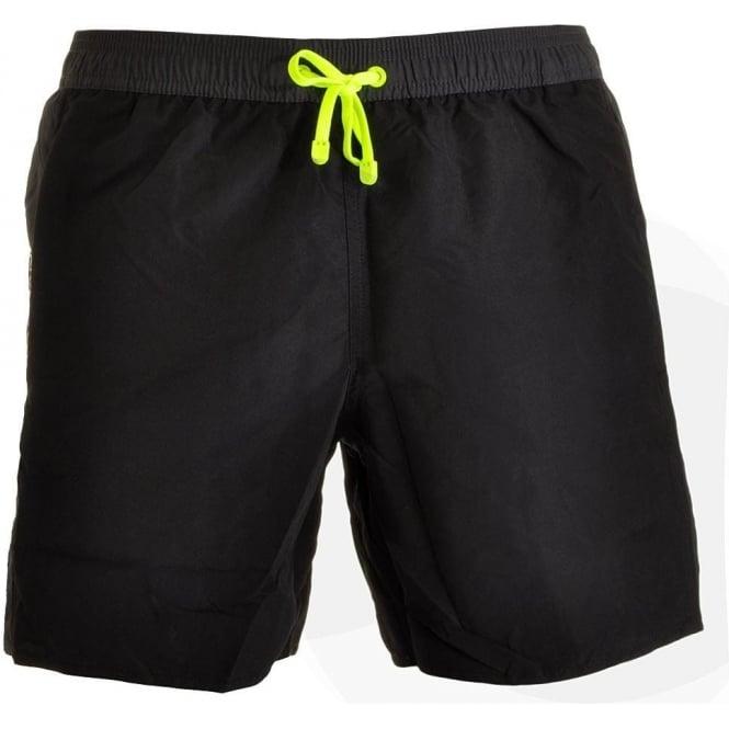 EA7 Emporio Armani Swimwear Sea World Block Swim Shorts, Black