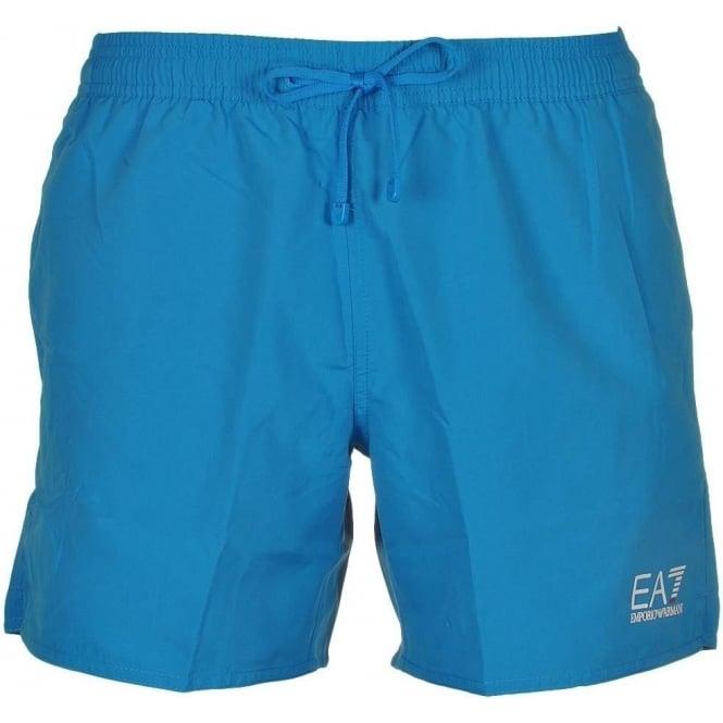 EA7 Emporio Armani Swimwear Sea World Core Swim Shorts, Methyl Blue