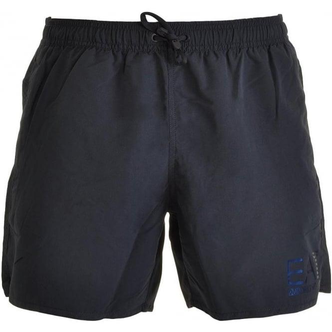 EA7 Emporio Armani Swimwear Sea World Eagle Swim Shorts, Dark Blue