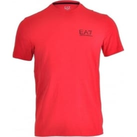 Swimwear Train Core ID Logo Crew Neck T-Shirt, Racing Red