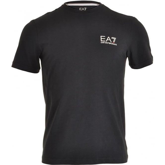 EA7 Emporio Armani Swimwear Train Core ID Logo V-Neck T-Shirt, Night Blue