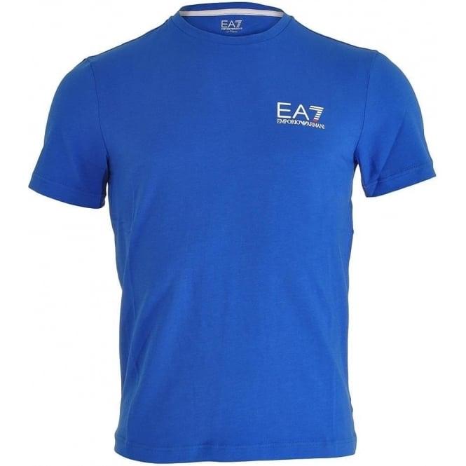 EA7 Emporio Armani Swimwear Train Core ID Logo V-Neck T-Shirt, Royal Blue