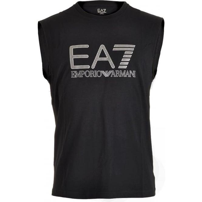 EA7 Emporio Armani Swimwear Train Visibility Logo Tank Top, Night Blue