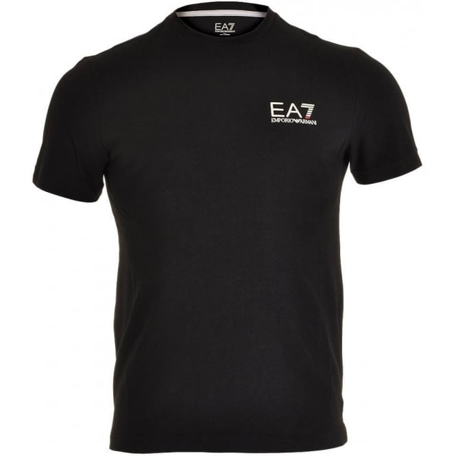 EA7 Emporio Armani Train Core ID Logo Crew Neck T-Shirt, Black
