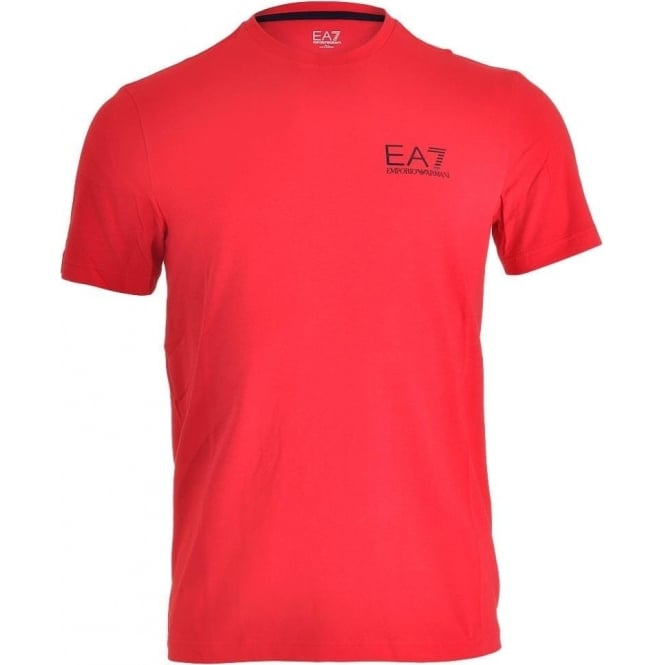 EA7 Emporio Armani Train Core ID Logo Crew Neck T-Shirt, Racing Red