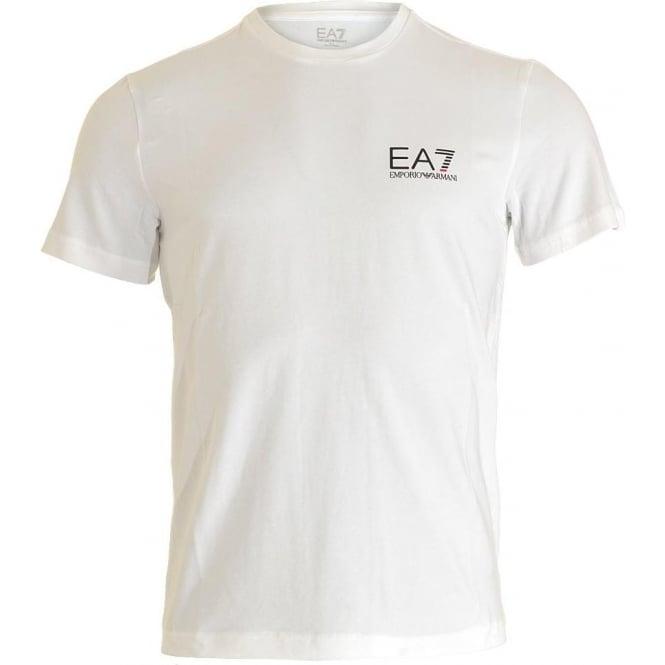 343b0247 EA7 Emporio Armani Train Core ID Logo Crew Neck T-Shirt White