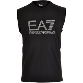 Train Visibility Logo Tank Top, Black