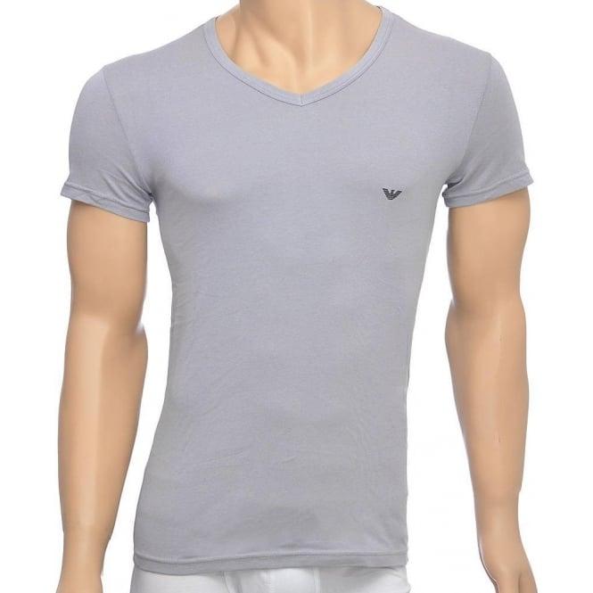 e2a266b5 2-Pack Stretch Cotton V-Neck T-shirt, Grey/Navy