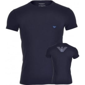 Big Eagle Stretch Cotton Crew Neck T-Shirt, Marine