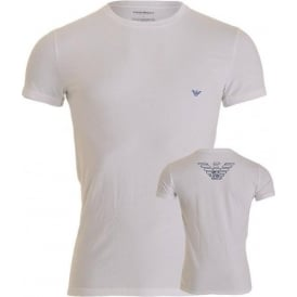 Big Eagle Stretch Cotton Crew Neck T-Shirt, White